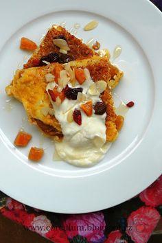 Corculum foodblog: Bulgurový nákyp s meruňkami