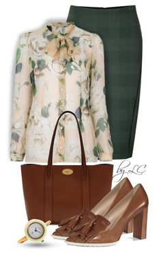 """""""Elegant blouse"""" by explorer-14541556185 ❤ liked on Polyvore featuring rag & bone, Lumi, Mulberry, Tod's and Gucci"""