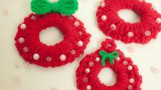 かぎ編みカンタンなクリスマスリースの作り方・編み方の作り方|編み物|編み物・手芸・ソーイング | アトリエ|手芸レシピ16,000件!みんなで作る手芸やハンドメイド作品、雑貨の作り方ポータル