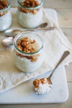 Tapioca Pudding Porridge with Roasted Apples (AIP & Vegan)