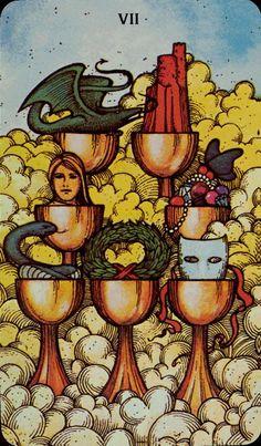 Seven of Cups, Morgan-Greer Tarot