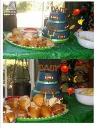 LOVE the football themed baby shower for a little boy!!!!