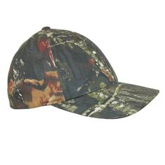 "Mossy Oak camouflage print is created by using natural colors and elements. The baseball cap has Flexfit elastic band for an adjustable secure fit. A 6 panel design is combined with structured 3 1/4 inch front crown creating a low profile construction. Mossy Oak camo is a sized hat in 3 sizes: S/M (6 3/4""-7 1/4""), L/XL (7 1/8""-7 5/8""), XL/2XL (7 3/8""-8"") for a better fit."
