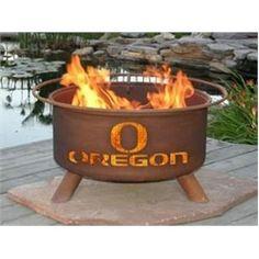 University of Oregon Ducks Portable Steel Fire Pit Grill