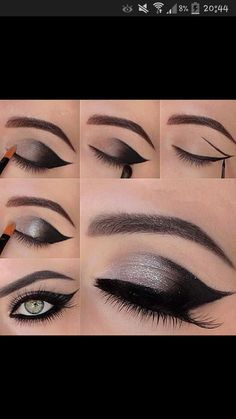 great eye make up idea! try with FM mineral make up