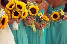 Conjunto de bouquet REAL TOUCH girasol! Boda bouquet set, paquete de ramo de…