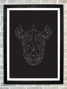 Rhino head triangles print 11 X 16