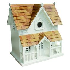 This classic Victorian styled birdhouse is a perennial best-seller. It's topped with pine shingles and has a removable back wall for easy cleaning. A front arch will provide a perfect perch for the incoming and outgoing residents.