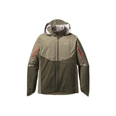 Men's Patagonia Storm Racer Jacket - Trail Green Rain Jackets ($279) ❤ liked on Polyvore featuring men's fashion, men's clothing, men's outerwear, men's jackets and green