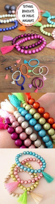 tuto facile bracelets en perles magiques Atelier de la création