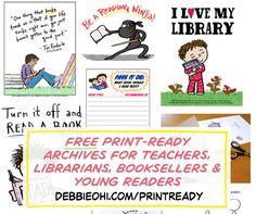 Debbie's Print-Ready Bonus Goodies - Debbie Ridpath Ohi (Twitter: @inkyelbows)