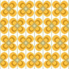 Large retro flower cross stitch pattern £3.00