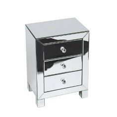 Check out the Avenue Six REF173-SLV Reflections 3 Drawer Accent Table in Silver Mirror priced at $216.78 at Homeclick.com.