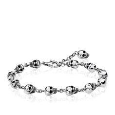 Bangles, leather straps and silver bracelets for men ensure coolness on the wrist. Discover men's bracelets by THOMAS SABO now Bracelet Karma, Skull Bracelet, Bracelet Cuir, Carpe Diem, Bijoux Thomas Sabo, Bracelets For Men, Bangle Bracelets, Rebel