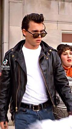 Johnny Depp Cry Baby, Young Johnny Depp, Johnny Depp Movies, Crybaby, Seventeen, Husband, Leather Jacket, Random, Boys