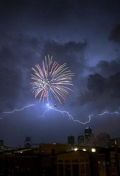 Amazing: fireworks and lighting are two of my favourite dangerous and pretty things to look at.