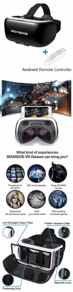 7a355f481e6d 3D TV Glasses and Accessories  Sidardoe 3D Vr Headset Virtual Reality  Goggles With Android Bluetooth Remote ... BUY IT NOW ONLY   31.98