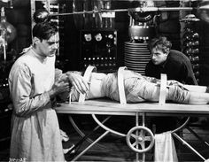 Doctor himself with his shady assistant in Frankenstein (1931)