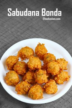 Food Photography Sabudana Bonda - how to make Saggubiyyam Punugulu - Foodvedam Spicy Recipes, Veggie Recipes, Cooking Recipes, Cooking Tips, Veggie Food, Oats Recipes, Snacks Recipes, Dessert Recipes, Indian Appetizers
