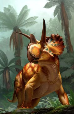 """Beasts of the Mesozoic: Ceratopsian Series"" Wendiceratops package art by Raul Ramos Prehistoric Wildlife, Prehistoric Creatures, Jurassic World Dinosaurs, Jurassic Park World, Dinosaur Age, Dinosaur Pictures, Extinct Animals, Prehistory, Mammals"
