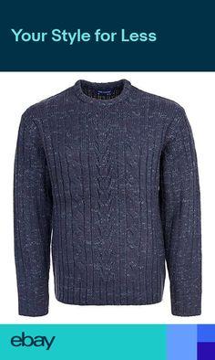 9c591ece4c1ce New Mens Knitted Crew Neck Jumper Winter Long Sleeve Wool Mix 3XL-5XL Tom  Hagan