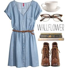 #outfit #university #school Wallflower