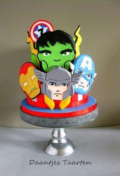 Avengers super heroes - Cake by Daantje