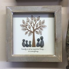I am very excited to share with you my new pebble art design created to order with any wording you would like adding... the latest addition to my #etsy shop: Pebble Art family Tree Tree-of-life picture Mothers Day Unique Personalised Gift for Mom New Baby Unusual Couple Wedding Gift quote #housewares #homedecor #grey #wedding #mothersday #brown #pebbleart #nursery #familytree