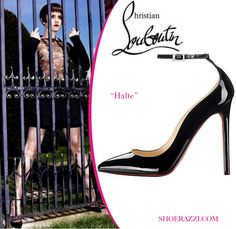 "mens spiked loafers cheap - Emma Watson in Christian Louboutin ""Coroclic"" Cork Wedges 