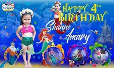 Little mermaid tarpaulin Layout. Tarpaulin, The Little Mermaid, Layout, Birthday, Happy, Birthdays, Page Layout, Ser Feliz, Little Mermaids