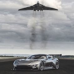 Aston Martin Vulcan :: the hard part was getting the car to be still for this shot with the Avro Vulcan. ;)