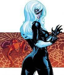 gata negra x homem aranha