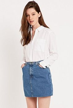Urban Renewal Vintage Originals A-Line Denim Mini Skirt - Urban Outfitters