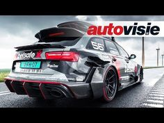 1000HP Audi RS6 DTM (ex-Jon Olsson) activates scooter alarms in Amsterdam - by Autovisie TV - YouTube