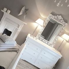 Shabby and Charming: The beautiful home of Emma Jane Home Bedroom, Bedroom Decor, Bedroom Fireplace, Shabby Chic Bedrooms, Love Home, Luxurious Bedrooms, Beautiful Bedrooms, Home Decor Inspiration, My Room