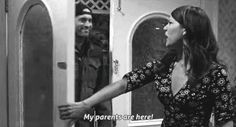 My parents are here (gif) Love this!!