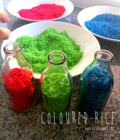 Coloured Rice #kids #crafts