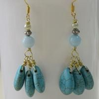 How to make the wire wrapped earrings with turquoise? This tutorial will show you the details about making the wire beaded earrings.