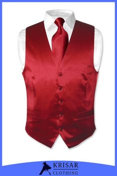 for Formal Occasions Men/'s Solid Silver Polyester Vest with Self Tie 2.5 Necktie