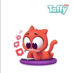 #dmnart #stickers #taffycat #cat #cute #cartoon #imessage  my new sticker pack on the new Appstore for iMessage^_^ буду выкладывать по 2 в день чтоб не спамить. В первом паке 30 картинок
