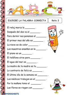 Liveworksheets transforms your traditional printable worksheets into self-correcting interactive exercises that the students can do online and send to the teacher. Preschool Spanish, Spanish Lessons For Kids, Elementary Spanish, Spanish Activities, Spanish Classroom, Spanish Language Learning, Speech And Language, Vocabulary In Context, Senior Activities