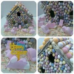 chocolate gingerbread house for Easter