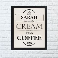 Cream in my Coffee Framed Print - Home Full Of Dreams