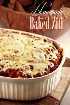 Homemade Baked Ziti Recipe - Our favorite family recipe!