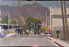 Mike Hernandez Grandview and San Fernando Rd Glendale 4x6 gouache