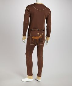 Take a look at this Brown Moose Flapjack Pajamas - Adults on zulily today!
