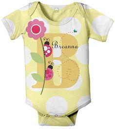 Sweet personalized baby girl onesie