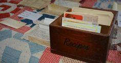 Handwritten Recipes #vintage