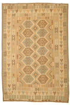 Kilim Afghan Old style rug NAH587