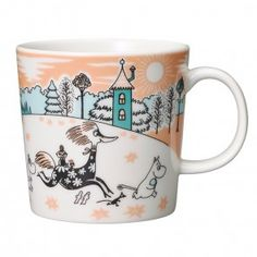 Moomin Mugs from Arabia – A Complete Overview Moomin Valley Park Japan The motif comes from an advertisement for a Swedish bank in The mug is only for sale in the Moomin theme park in Hanno outside of Tokyo. Moomin Mugs, Moomin Valley, Valley Park, Tove Jansson, Helsingborg, Crafts To Do, Christmas Gifts, Tableware, Mumi